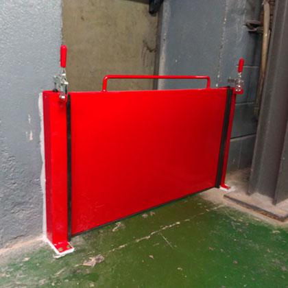 barreras de retención mecánicas contra inundación