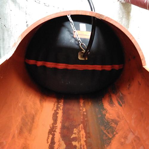 Otros sistemas de contención - bloqueo tubería de desagüe